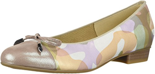 ara Women's Betty Ballet Flat, Rose Camucalf, 6.5 M US ()