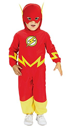 UHC Flash Dc Comics Superhero Toddler Kids Boy's Fancy Dress Halloween Costume, 2T-4T (Toddler Scary Costumes)