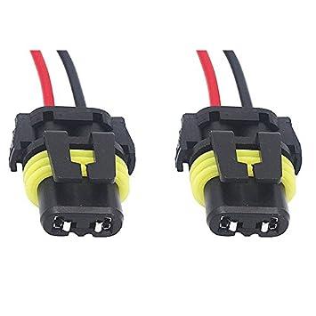 amazon com: shunyang 2pcs 9006 female adapter wiring harness sockets wire  for headlights fog lights headlight connector: automotive