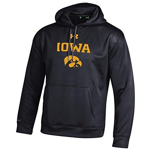 Under Armour NCAA Iowa Hawkeyes Men's Fleece Hoodie, Medium, Black (Iowa Hoodie Hawkeyes)