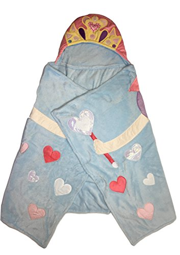 Soft Princess Hooded Throw Blanket for Kids - 27in x 52in -