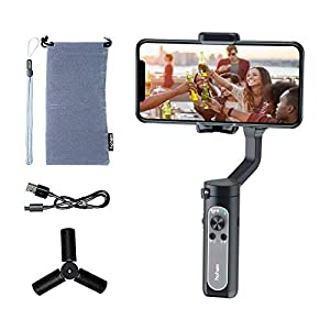 hohem 3-Axis Smartphone Gimbal Stabilizer for iPhone 11 Pro mAX/Xs Android, Foldbale Gimbal for Vlog Youtuber Live Video Recording, Face Tracking, Auto Inception Timelapse, iSteady X (Black) 17