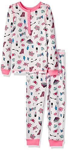Betsey Johnson Girls' Big Tight fit Pajama Set, XOXO 8