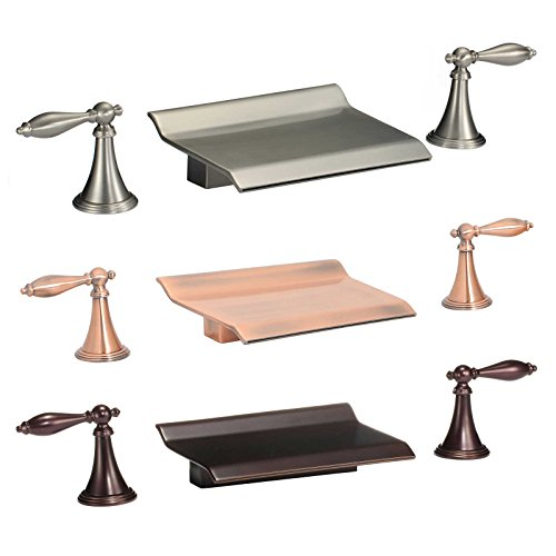 (FREUER Scaffale Collection: Widespread Waterfall Bathroom Sink Faucet, Oil Rubbed Bronze )