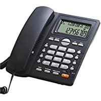 LeeKerTel Home Office Corded Phone with Caller ID Large Button Phone with Speed Dial(Black, P028B)