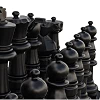 MegaChess Giant Chess Set - Black and White - Plastic - 37 inch King