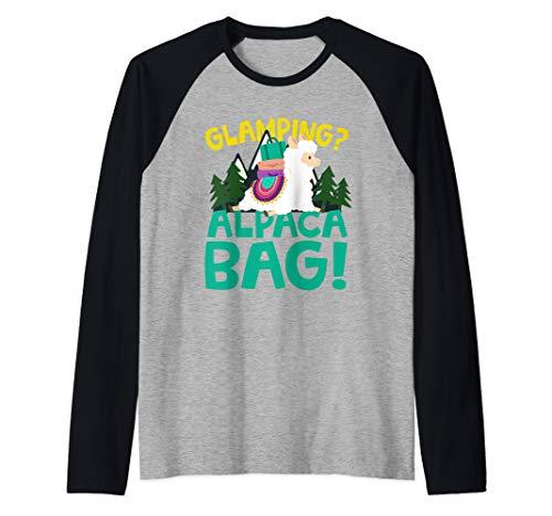 Funny Glamping Alpaca Raglan Baseball - Clothing Jude Bag Body
