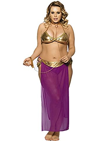 Slocyclub Women Sexy Night Harem Slave Costume Party Cosplay (Cheap Butterfly Stuff)