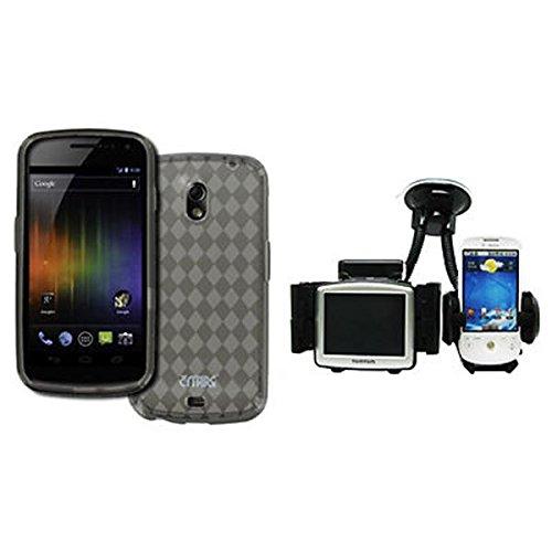 EMPIRE Samsung Galaxy Nexus I515 Poly Skin Case Tasche Hülle Cover (Smoke) + Auto Windschutzscheibe Bergs