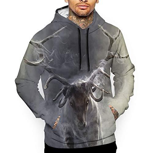 Cloud Animal Deer Man's Hooded Sweatshirt Hoodie Long