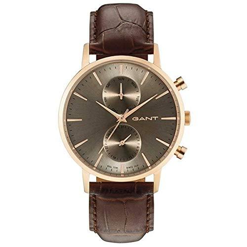 dd60ea542762 GANT Reloj Multiesfera para Hombre de Cuarzo con Correa en Cuero W11208   Amazon.es  Relojes