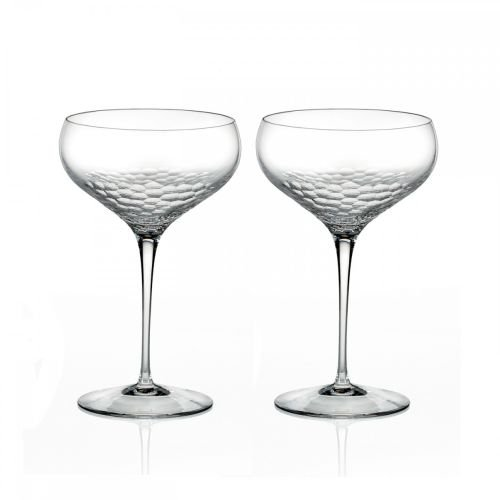 - Vera Wang by Wedgwood Set of 2 Sequin Crystal Champagne Coupes