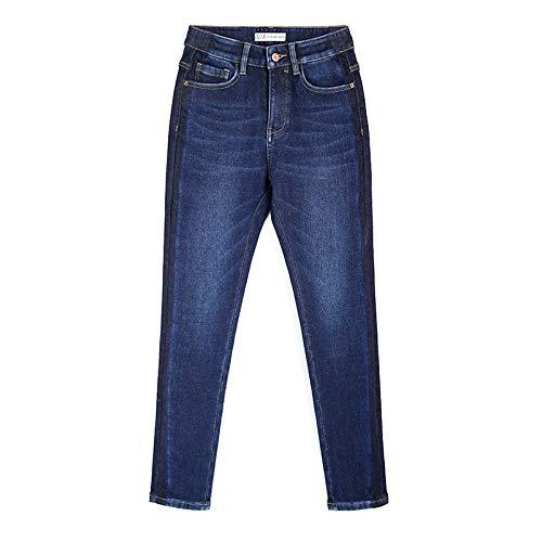 New Shadow Blu S Donna Alta Size 6l Donn Winter Totale Pencil Vita Rlwfjxh Jeans Plus Addensare Scuro Side Skinny Sbiancato L Lunghezza 81qwEganxB