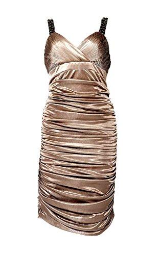Kleid Kleid Größe 38 taupe mit Damen Steinen APART xf5UvwS
