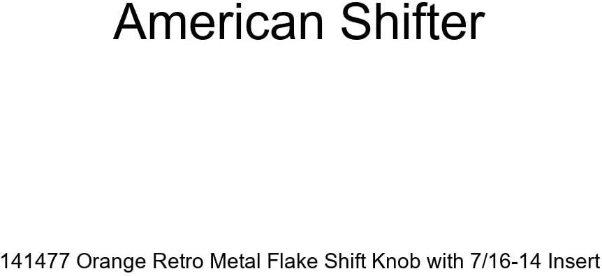 American Shifter 141477 Orange Retro Metal Flake Shift Knob with 7//16-14 Insert