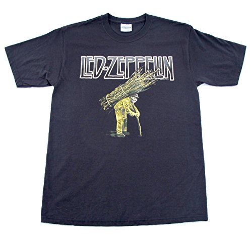 [Led Zeppelin IV Album Cover Artwork Black Myth Gem T Shirt Adult Size Medium] (Led Zeppelin Zoso T-shirt)