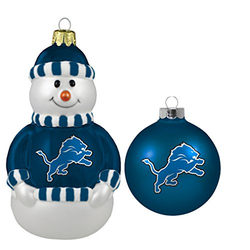 NFL Detroit 2-Pack Snowman and Ball Set
