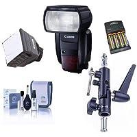 Canon Speedlite 600EX II-RT, Shoe Mount Flash, U.S.A. Warranty - Bundle Flashpoint Flash Diffuser, Mini Soft Box Diffuser, 4 AA NiMH 2900mAh Batteries/Charger, Cleaning Kit