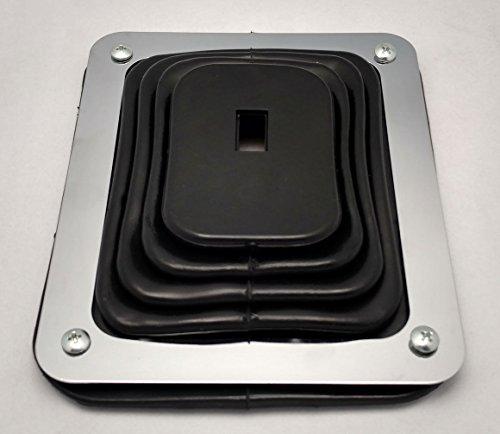 [해외]허스트 스타일 러버 시프터 크롬 플레이트 장착 5 5 8 X 6 3 4 유니버셜/Hurst Style Rubber Shifter Boot With Chrome Plate 5 5 8  X 6 3 4  Universal
