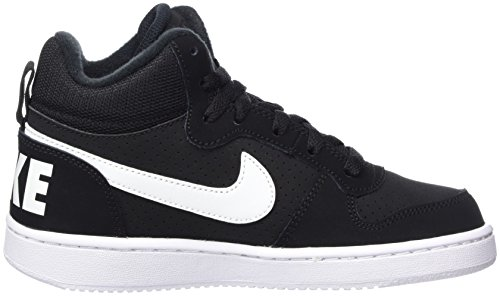 Borough Court Mid Baskets Hautes Noir gs black white Nike Mixte Enfant 5T1nHqqwx