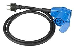 As Schwabe 60483 - Cable adaptador con conector hembra en ángulo (230 V, 16 A, 3 pines, 1,5 m, H07RN-F 3G2,5, IP44, uso en el exterior)