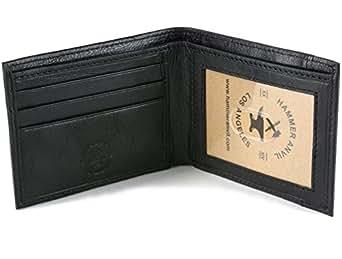 Hammer Anvil Men's RFID Blocking Genuine Leather Slimfold Wallet Black