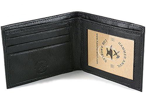 07. Hammer Anvil Men's RFID Blocking Genuine Leather Slimfold Wallet