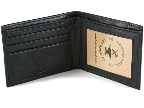 Hammer Anvil Men's RFID Blocking Genuine Leather Slimfold Wallet Black