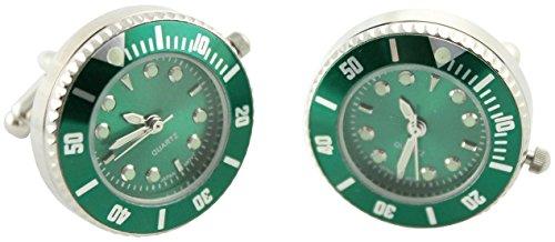 MasGemelos Boutons de manchette-Montre Rolex Vert Cufflinks