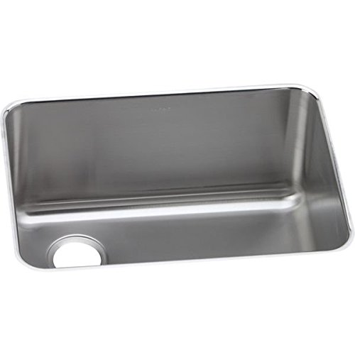 (Elkay ELUH231710L Stainless Steel Left Drain Gourmet 18-3/4-Inch x 25-Inch Single Basin Undermount Stainless Steel Kitchen Sink)