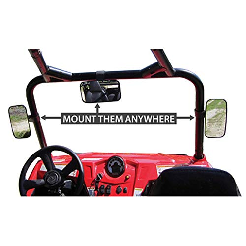 Mule Utility Vehicle - UTV Side View Mirror For 2005 Kawasaki KAF620 Mule 3010 4x4 Utility Vehicle