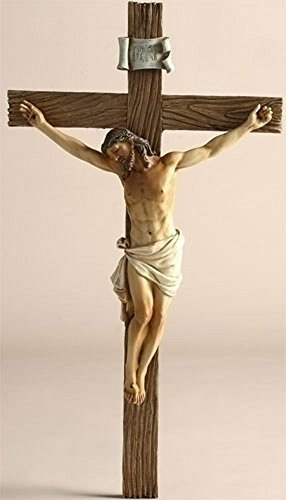 (Jesus Nailed On The Cross Resin Wall Crucifix, 14)