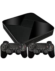 G5 Game Box Wireless Game Console PSP Emulator with an Open-Source Linux System Home TV Game Console Gamebox, Support Online Download Via LAN and WiFi (64G Wireless Handle)