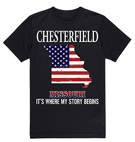 Independence Day Shirt - Chesterfield Missouri MO It's Where My Story Begins Black]()
