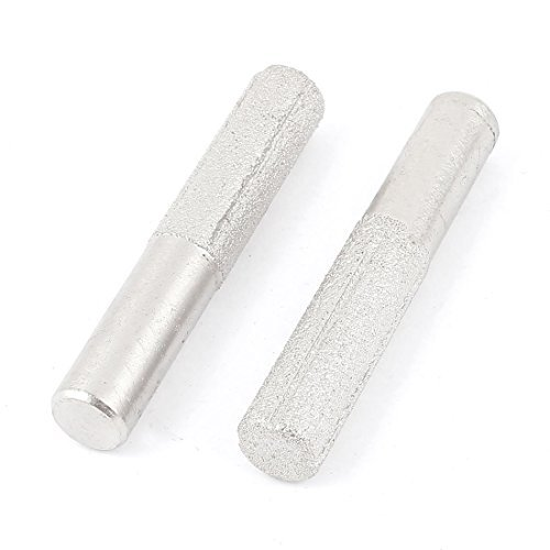 DealMux 2 Pcs Silver Tone 13 milímetros diamante Perfil Bit Router linha reta para Marble