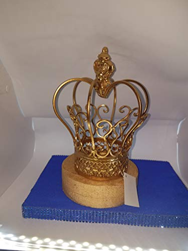 Gold wire CRown Cake Topper Centerpiece prince -