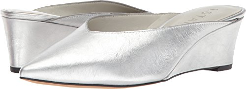 1.STATE Women's Leanne Bright Silver Nautillus Metallic Silver 6 M US