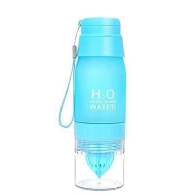 Wffo Travel Bottle, New 650ML Lemon Cup H2O Drink Water Bottle Drink More Water Drinking Bike Bottle