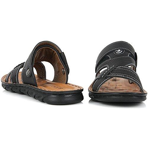 New Fashion Casual Mens Estate Pantofole Sportive Comfort Sandali Con Scivolo Scarpe Nere