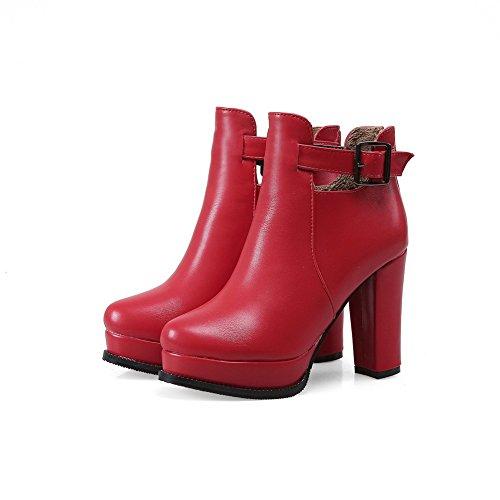 Unknown 1to9 - Sandales Compensées Pour Femmes, Rouge (rouge), 35