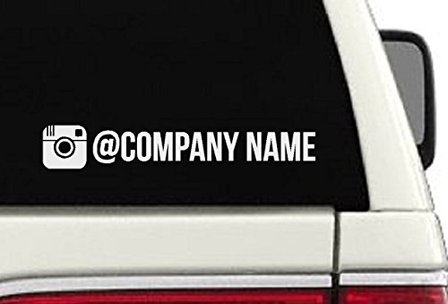 Instagram Username Car Decal- Branding/ Advertising Car - Decal Instagram