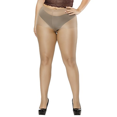 Aeakey Women's Plus Size Tights High-waisted Tight Stockings Thigh-high Stockings Pantyhose (High Pantyhose)