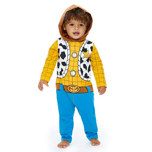 Woody Outfits Toy Story (Disney Pixar Toy Story Woody Newborn Baby Boy Zip-Up Costume Coverall 0-3)