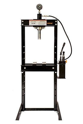 20 Ton Shop Press with 2 speed Hydraulic Hand Pump Pressure Gauge H-Frame 41