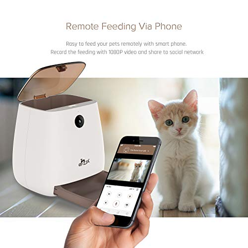 Orita 12 Meals SmartFeeder,Auto Pet Dog and Cat Feeder, 1080P HD WiFi Pet Camera with Night Vision for Pet Viewing,Compatible with Alexa,2-Way Audio Communication by Orita (Image #2)