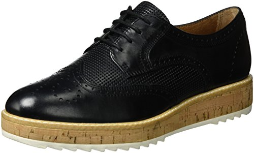 Tamaris Donna 23706 Scarpe Stringate Brogue Nere (nero 001)