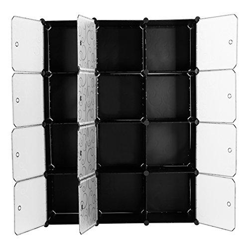 langria 12 cubby shelving modular cube diy shoe rack storage drawer unit multi use modular. Black Bedroom Furniture Sets. Home Design Ideas