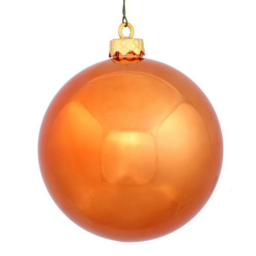 Shiny Finish Seamless Shatterproof Christmas Ball Ornament 6 per Bag