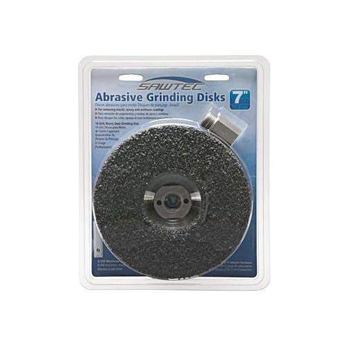 MK Diamond 167755, Sawtec 7'' 16 Grit Abrasive Grinding Disc (5 Packs of 3 pcs)