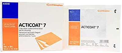"Smith and Nephew 20141 Acticoat 7 Antimicrobial Dressing 4"" x 5"" - Box of 5"